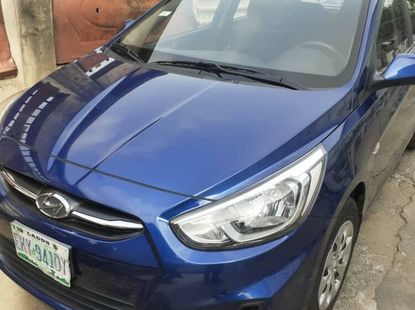 Foreign Used Hyundai Accent 2016 Model Blue
