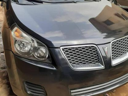 Foreign Used 2009 Dark Grey Pontiac Vibe for sale in Lagos.