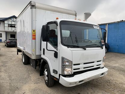 Foreign Used 2014 White Isuzu NPR for sale in Lagos.