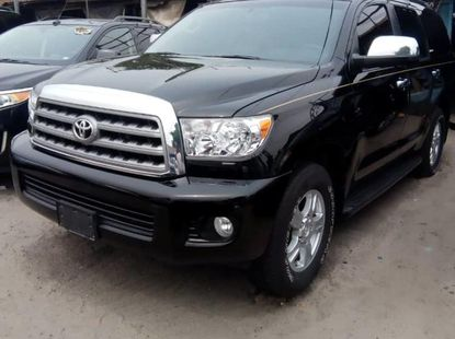 Foreign Used 2013 Black Toyota Sequoia for sale in Lagos.