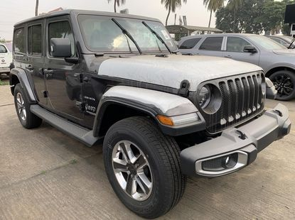 Brand New 2019 Grey Jeep Wrangler for sale in Lagos.