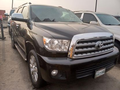 Foreign Used 2012 Black Toyota Sequoia for sale in Lagos.