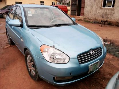 Nigeria Used Hyundai Accent 2008 Model Blue