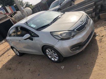 Locally Used 2014 Silver Kia Rio for sale in Lagos.