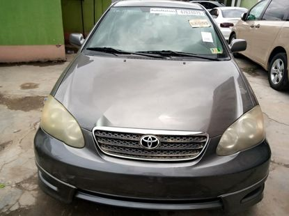 Foreign Used Toyota Corolla 2005 Model Gray