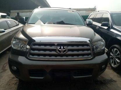 Foreign Used Toyota Sequoia 2012 Model Gray