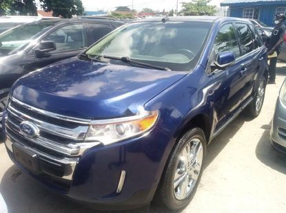 Foreign Used 2013 Blue Ford Edge for sale in Lagos.