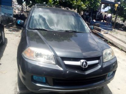 Foreign Used 2005 Grey Acura MDX for sale in Lagos.