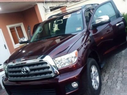 Foreign Used Toyota Sequoia 2011 Model Red