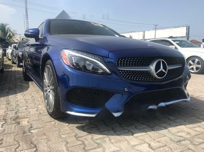 Foreign Used Mercedes-Benz C300 2017 Model Blue