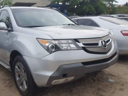 Foreign Used 2008 Silver Acura MDX for sale in Lagos.