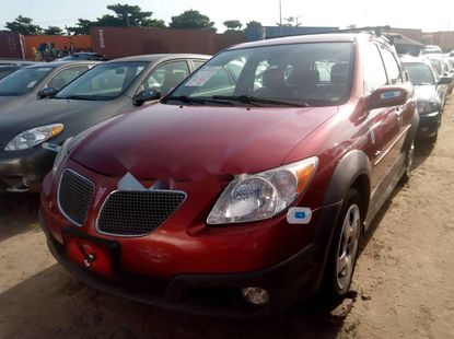 Foreign Used 2007 Maroon Pontiac Vibe for sale in Lagos.