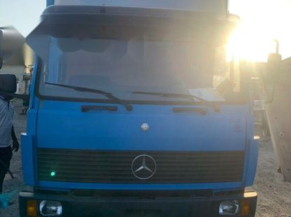 Foreign Used Mercedes-Benz 814 1991 Model Blue