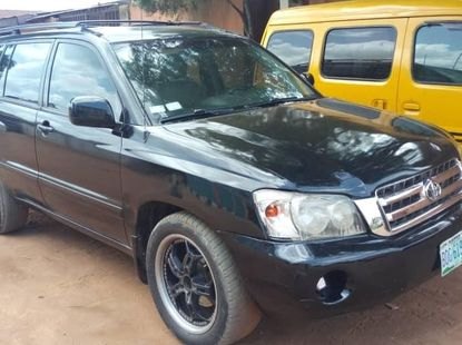 Nigeria Used Toyota Highlander 2003 Model Black