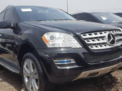 Foreign Used 2012 Black Mercedes-Benz ML350 for sale in Lagos.
