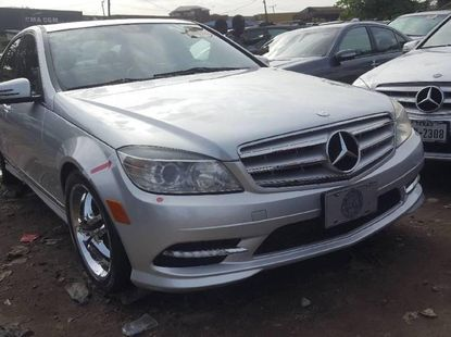 Foreign Used 2010 Silver Mercedes-Benz C300 for sale in Lagos.
