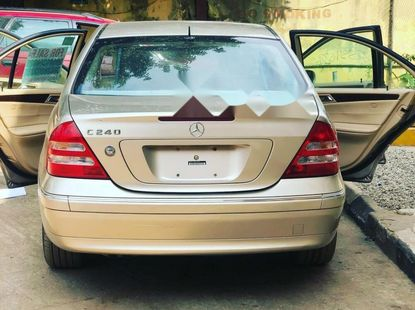 Foreign Used Mercedes-Benz C240 2003 Model Gold