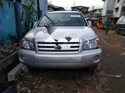 Foreign Used Toyota Highlander 2007 Model Silver