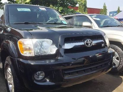 Foreign Used 2007 Black Toyota Sequoia for sale in Lagos.