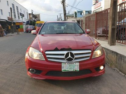 Nigeria Used Mercedes-Benz C300 2009 Model Red