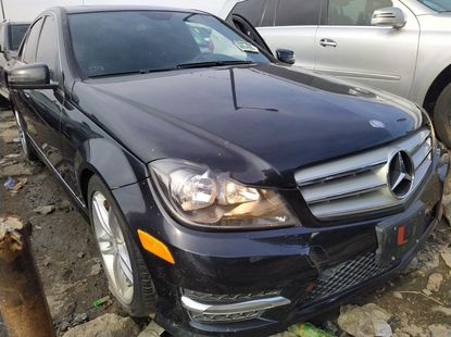Foreign Used 2013, Black. Mercedes-Benz C300.
