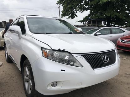 Foreign Used 2010 White Lexus RX for sale in Lagos.