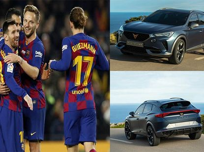 Lionel Messi and Barca teammates get new official cars