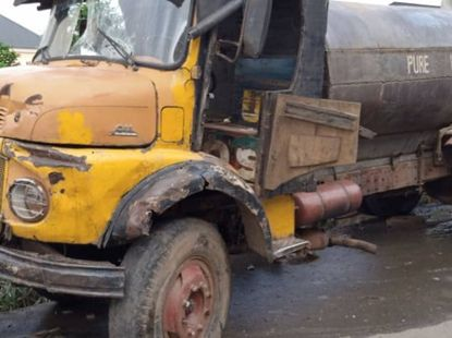One dead, 4 injured as water tanker crushed tricycle in Anambra