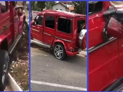 Expensive mistake: Man wrecks G-Wagon SUV which he rented to woo a lady
