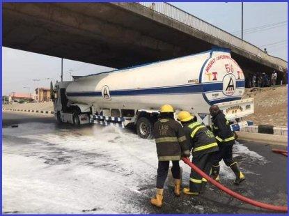 LASEMA averts tragedy after fuel tanker spills petrol on Ojodu road