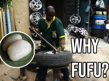 Why Nigerian Vulcanizers use Fufu and Saliva on your Car Tyre