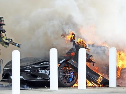 ₦135.8m McLaren 765LT razed to the ground just after owner acquired it