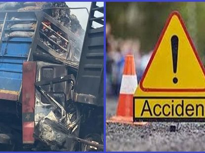 Man dies in a fire that ensued after tanker and trailers crashed in Kwara