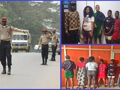 FRSC rescues five female victims from an intercepted human trafficker