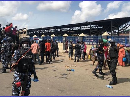 [Photos] Lagos Taskforce impounds several motorcycles in restricted areas