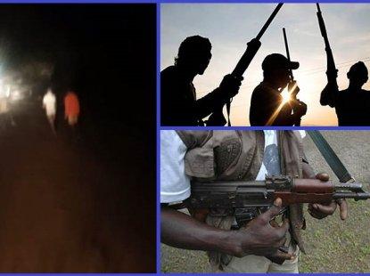 [Video] Unknown gunmen kidnap 6 passengers of a bus in Ogun state at night