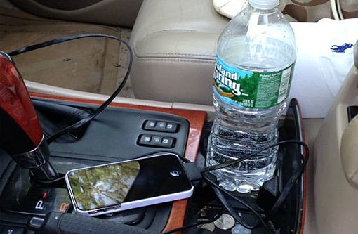 Cautions when storing water bottles inside your car